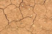 Трещины Глинистая почва в сухой сезон — Стоковое фото