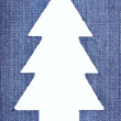 Denim Christmas Tree — Stock Photo