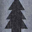 Denim Christmas Tree — Stock Photo #14241511