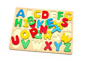 Wooden letter. isolated on white — Stock Photo