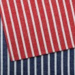 Stripe fabric texture — 图库照片
