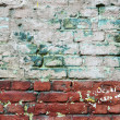 Texture of old painted brick wall — Stock Photo
