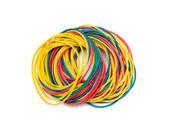 Kolorowe gumki na białym tle — Zdjęcie stockowe