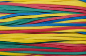 Colorful elastic bands close up — Stock Photo
