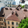Stock Photo: View of the old roof top Kiev