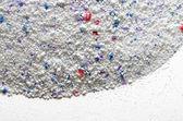 Tvätta pulver textur med blå och röda disseminations — Stockfoto