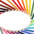 Crayons Frame — Stock Photo