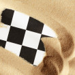 Chess In Sand — Stock Photo