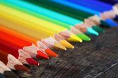 Crayons sur bois — Photo