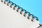 Spiral Notebook Background — Stock Photo