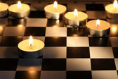 Fire Chess Game — Stock Photo