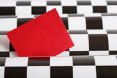 Blank Red Card — Stock Photo