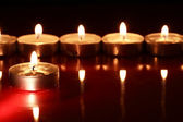 Candles On Dark — Fotografia Stock