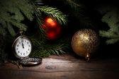Ročník vánoční dekorace — Stock fotografie