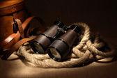 Binóculos antigos — Fotografia Stock
