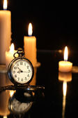 Watch And Candles — Stock Photo