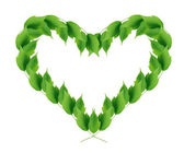 Green Leaves Heart — Stock Photo