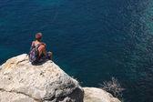 Escursionista solitario — Foto Stock
