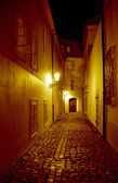 Night Alley In Prague — Stock Photo