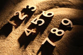 Numbering On Sand — Stock Photo