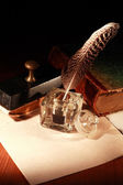 Vintage Inkstand — Stock Photo