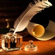 Quill And Scroll — Stock Photo