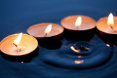 Candles On Water — Stockfoto