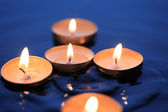 Candles On Water — Stock Photo