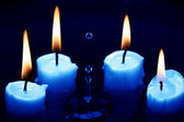 Candles In Water — Stock Photo