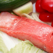 Trout And Vegetables — Stock Photo