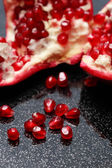 Pomegranate On Black — Stock Photo