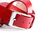 Red Leather Belt — Stock Photo