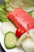 Salmon And Vegetables — Stock Photo