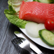 Stock Photo: Trout And Vegetables
