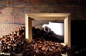 Coffee And Wood — Stock Photo