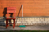 Mop And Chair — Стоковое фото