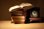 Books And Clock — Stock Photo