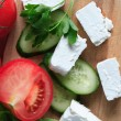 Feta Cheese And Vegetables — Stock Photo #48839819