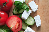 Feta Cheese And Vegetables — Stock Photo