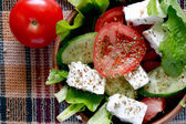 Salad With Feta Cheese — Stock Photo