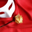 Theatre Concept On Red — Stock Photo #5239853