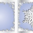 Silver Blue Greetings card Snowflake — Stock Vector #1318728
