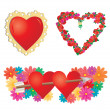 Set of valentines hearts, part 2 — Stockvector  #1685558
