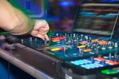 DJ performing during a show — Stock Photo