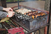 Turning skewer — Stock Photo