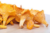Chanterelles on table — Stock Photo