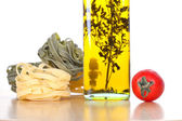 Set of ingredients and spice for pasta cooking — Stock Photo
