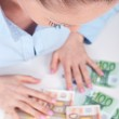 Happiness with cash money, concept — Stock Photo #13703458