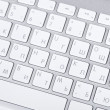 White keyboard on white background — Stock Photo
