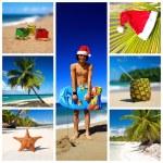 anno nuovo collage — Foto Stock